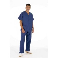 Unisex Medical Scrubs Set (Tunic & Trouser) - Cobalt Blue - Large