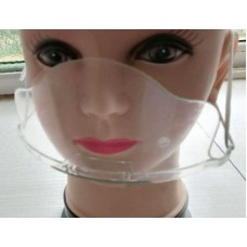 Transparent Face Mask / Clear Covering, Mouth Shield (1 Piece)