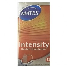 Mates Intensity Condoms (Ribbed & Dotted) - 12 pieces
